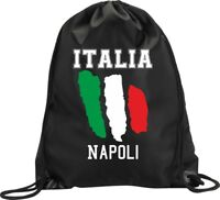 BACKPACK BAG NAPLES ITALY GYM HANDBAG FLAG SPORT
