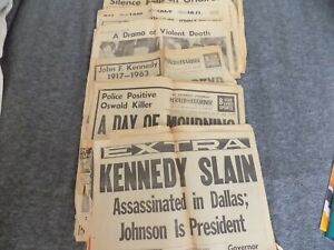 VTG John Kennedy Assination Papers from Nov. 23 1963