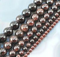 "Natural Gemstone Garnet Round Loose Beads Spacer 15"" 4mm 6mm 8mm 10mm 12mm"