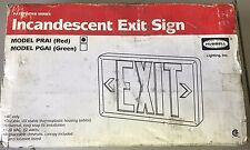 Exit sign Hubbell Incandescent red PRAI