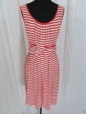 Max Studio Coral Striped Sundress Size M