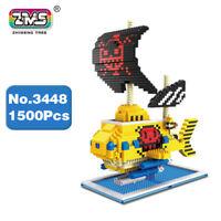 ZMS3448 Spielzeug One Piece Law Pirates Submarine Schiff Diamond Bausteine