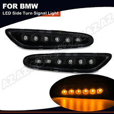 Jinfili Dynamic Clear Lens Amber LED Side Marker Light Front Fender Turn Signal Lamp For BMW E90 E91 E92 E93 E46 E53 X3 E83 X1 E84 E81 E82 E87 E88