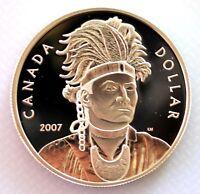 2007 CANADA THAYENDANEGEA (JOSEPH BRANT) PROOF SILVER DOLLAR COIN