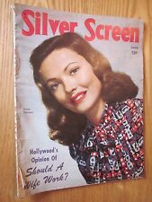 1946 Silver Screen movie magazine June issue Gene Tierney on cover