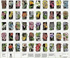 US WILDFLOWERS 1992 SCOTT #2647-2696 BLOSSOMS WITH COLOR 50 MVF 29c STAMP SHEET