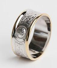 14k Gold Irish Handcrafted Celtic Wedding Band Ring warrior 9mm
