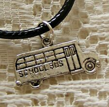 SCHOOL...BUS  ~ PENDANT ~ NECKLACE --- (GREAT_CHRISTMAS_GIFT)