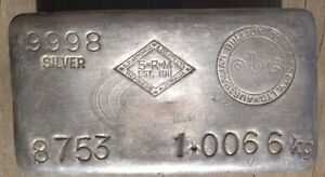 Vintage Silver S.R.M with abc counter stamp 1kgVery Rare