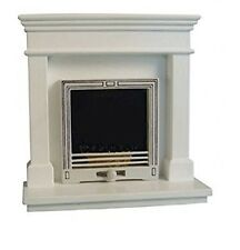 Dolls House Miniature 1:12th Scale White Modern Fireplace