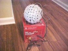 "Holiday Classics 100 Lights Super Sphere Snow Ball Light W/Box-6"" Diameter"
