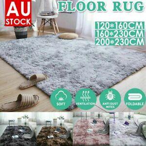 Rectangle Floor Rugs Shaggy Rug Large Carpet Gradient Soft Area Bedroom Mat Fur