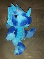 "Homerbest Triceratops Plush 12"" Blue Dinosaur Dino Tie Dye Stuffed Animal 3..."