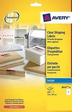 Avery  clear inkjet address labels 25 Sheet Packs J8567-25