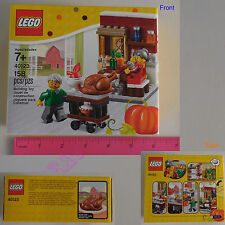 New LEGO 2015 Thanksgiving Feast Limited Edition 158 Pcs Set 40123 - Gift