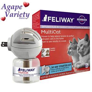 Feliway MultiCat Calming Diffuser Kit (30 Day Starter Kit) | Vet 48ml, clear