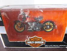 MOTO 1/18 HARLEY DAVIDSON 1936 EL KNUCKLEHEAD ROUGE 2000 BOITE SERIE 10