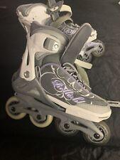 Kids Spitfire Xt G Roller In-line Skates Purple Grey Size 5-8 Sg3 Rollerblades