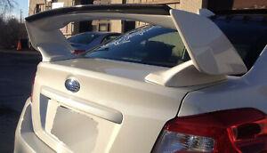 JSP Carbon Fiber Gurney Flap 2008-2020 Subaru WRX STI Rear Wing Spoiler CFS 4515