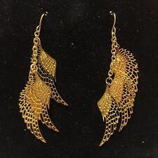 Dangling Multi Angel Wings Earrings Gold Plated Stainless Steel Graduation Gift
