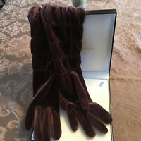 Ladies Gloves Nine West Brown One Size