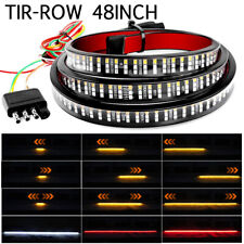 "48"" 372LED Truck Strip Tailgate Light Bar 3Row Reverse Brake Turn Signals Tail"