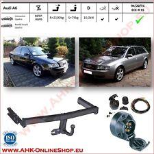 Gancio traino fisso Audi A6 Berlina, Avant 1997-2005 + kit elettrico 7-poli