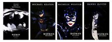 BATMAN RETURNS • Mini-Sheet Movie Posters • SET OF 4 • CAT WOMAN • 1992