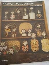 Vintage 1981 French Jar Designs Cross Stitch Pattern Book Honey Popcorn Alphabet