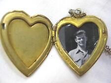 L@@K!! WWII US Navy Heart-shaped Locket Sterling Sweetheart Pendant