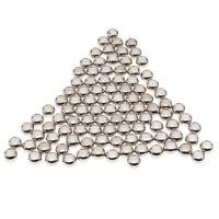 100 Stücke CCB Kunststoff Silber Spacer Perlen Großes Loch für DIY