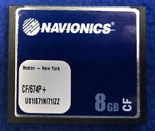 Navionics Platinum Plus CF/674P+ Boston - New York CF Map Chart Card 09/2016