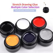6Color/set Nail Art Uv Gel Drawing Elastic Line Painting Gel Varnish Silk Spider