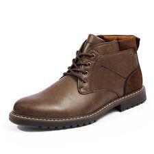 Мужские кожаные повседневные ботинки Chukka платье сапоги прочная стильная обувь для мужчин