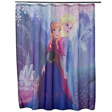 "Disney Frozen Elsa & Anna Shower Curtain by Jumping Beans Polyester 70""x72"" NEW"