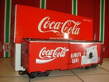 LGB 42912 1994 RED COCA COLA COKE POLAR BEAR STEEL BOX CAR BRAND NEW IN BOX!