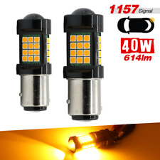 1157 BAY15D Yellow 2-Bulb 3030Chip 36SMD High Power Turn Signal Brake Tail Stop