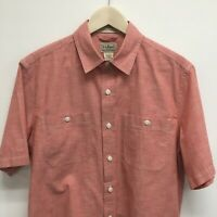 Mens Medium LL BEAN Short Sleeve Cotton Shirt -SUPERB-  43c
