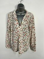 BNWT WOMENS VILA CLOTHES UK 14 WHITE MIX FLORAL LONG SLEEVE COLLARED BLOUSE TOP