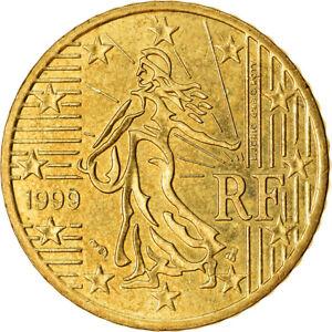 [#766460] France, 50 Euro Cent, 1999, TTB, Laiton, KM:1287