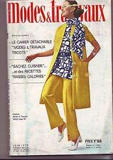 modes et travaux numero 834 - juin 1970