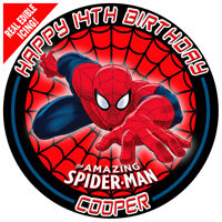 Spiderman Edible Icing Image Cake Topper Personalised Birthday Party Decoration