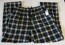 NWT Tommy Hilfiger Men's XL Blue Green Plaid Polyester Pajama Lounge Pants