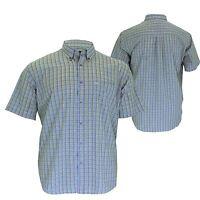 Mens Plus Big Size Cotton Valley Check Short Sleeve Casual Formal Shirt 2XL-8XL
