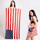 ScarvesMe Patriotic American Flag USA Cotton 2 in 1 Beach Towel to Shoulder Bag