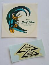 Lot of 2, Vintage 1960'S Surfboards By Greek, O'Neills Surf Shop Decals