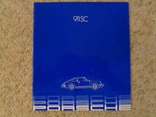 1982 Porsche 911 SC DELUXE Showroom Advertising Sales Brochure RARE Awesome L@@K