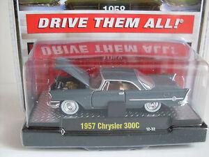 1957 Chrysler 300C Gris, M2 Machines Auto Thentics (20D), 1:64