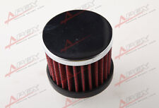 "12mm 1/2"" Mini Air Intake Crankcase Breather Filter Valve Cover Catch Tank Red"