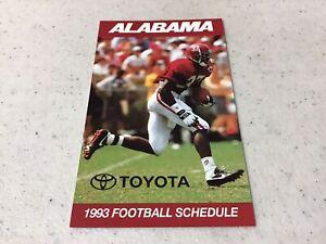 1993 University Of Alabama NCAA Football Pocket Schedule